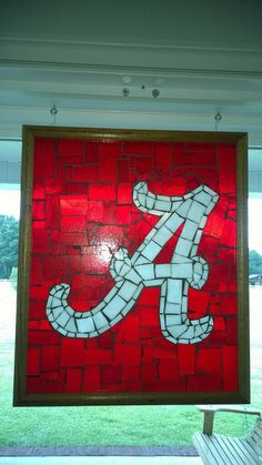 University of Alabama Mosaic by piecesntime on Etsy