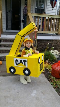 Homemade crane costume to go with Rubble from Paw Patrol