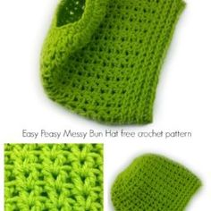 Peasy Messy Bun Hat crochet pattern - full beanie, too Easy Peasy Messy Bun Hat free crochet pattern by Celina Lane, Easy Peasy Messy Bun Hat free crochet pattern by Celina Lane, Easy Crochet Patterns, Free Crochet, Hat Patterns, Doily Patterns, Crochet Designs, Crochet Ideas, Crochet Stitches, Crochet Crafts, Crochet Projects
