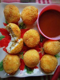 Fried Mashed Potato Balls Stuffed with Dressing - Hispanic Kitchen