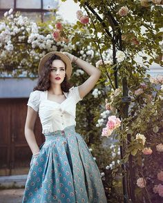 The antique rose garden Photo & retouch @nadjaberberovic ❤️ Blouse & skirt @lenahoschek