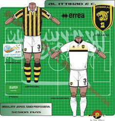 Al-Ittihad FC of Saudi Arabia kits for Football Kits, Saudi Arabia, Logo, Shirts, Soccer Kits, Soccer Equipment, Logos, Dress Shirts, Shirt