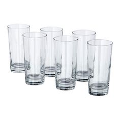 IKEA GODIS Glass Clear glass 40 cl The glass has a simple, tall and straight shape which makes it perfect for all types of cold drinks, such as carbonated cocktails with a lot of ice.