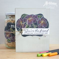 Blended Seasons / Color Your Season by Stampin' Up! - Chalkboard card + gift jar by Susan Wong 2018 Color, Beautiful Handmade Cards, Season Colors, Stamping Up, Stampin Up Cards, Artisan, Seasons, Stitch, Holiday