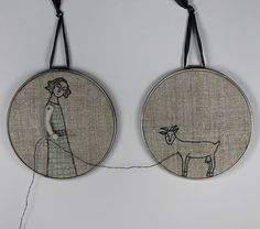 hand embroidery hoop art reap what you sew by MarysGranddaughter