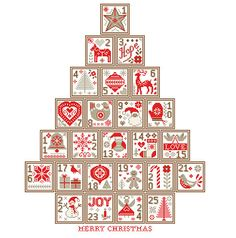 Check out our scandinavian cross stitch pattern selection for the very best in unique or custom, handmade pieces from our shops. Modern Christmas Ornaments, Christmas Tree Pattern, Scandinavian Christmas, Christmas Cross, Christmas Stuff, Christmas Decorations, Cross Stitching, Cross Stitch Embroidery, Embroidery Patterns