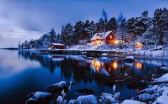 Kış manzarasında kaybolmuş 20 yalnız ve küçük ev!