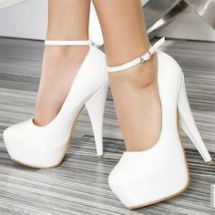 Cute white heels... these would go great with the dress i just got