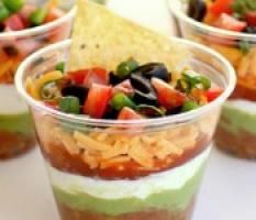 Great Appetizer Idea: Individual Seven-Layer Dips