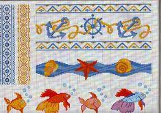 Χειροτεχνήματα: Κεντητές κουβέρτες για μωρά / Cross stitch baby blankets Cross Stitch Borders, Crochet Borders, Cross Stitch Animals, Cross Stitch Charts, Cross Stitch Designs, Cross Stitch Patterns, Crochet Edgings, Embroidery Art, Cross Stitch Embroidery