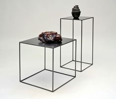 Tavolino Slim Irony - / 41 x 41 x H 64 cm di Zeus