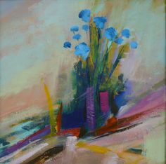 Blue flowers - Sold