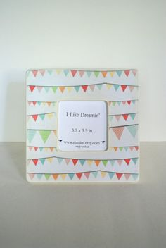 Happy Bunting Picture Frame by Mmim on Etsy, $17.00