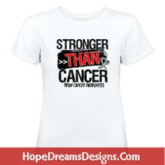 Stronger Than Cancer Brain Cancer Awareness shirts, tees and cool gear  by hopedreamsdesigns.com #braincancer #braincancerawareness #braincancershirts #strongerthancancer