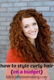 how to style curly hair {beauty on a budget}- using drugstore products less than $5