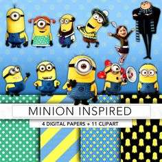 Minion Tarpaulin Background Premium Invitation Template Design