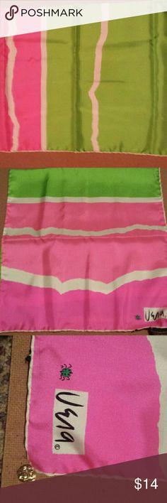 Vintage Vera Neumann Silk Scarf Pink/Green Beautiful Vintage Rectangle Scarf. GREAT Condition. I will trade. Accessories Scarves & Wraps