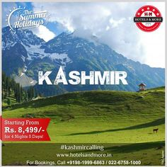 Amazing Kashmir @ 8,499/- P.P for 4 Nights, 5 Days. #summer #holiday #kashmir #heavenonearth #package #srinagar #pahalgam #gulmarg #dallake #shikara #houseboat #tulipgarden #mughalgarden #jammu #gondala #nigeenlake #nishatgarden #valley #parimahal #chandanwari #india #kashmircalling #jhelum #river #holidays #vacation #family #friends #travel
