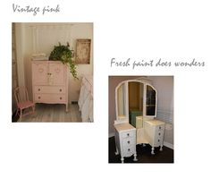 Pink vintage girls bedroom furniture, DYI kids, girls, room, decor