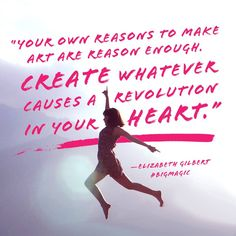 BIG MAGIC is the new guide to living a creative life by bestselling author Elizabeth Gilbert. Win a BIG MAGIC galley from Book Country. Book Quotes, Me Quotes, Motivational Quotes, Eat Pray Love Author, Elizabeth Gilbert Quotes, Liz Gilbert, Magic Quotes, Inspirational Words Of Wisdom, Creativity Quotes