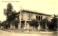 Old Spanish house in Manila (ctto) Vintage Pictures, Old Pictures, Senior Citizen Humor, Filipiniana, Mindanao, Spanish House, Pinoy, Manila, Filipino