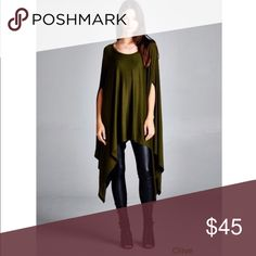 Contemporary Poncho Tunic One size fits most Tops Tunics