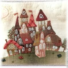 Oh I do like to be beside the seaside. Hand Applique, Applique Patterns, Applique Quilts, Quilt Patterns, Japanese Embroidery, Embroidery Art, Sewing Art, Sewing Crafts, Applique Wall Hanging
