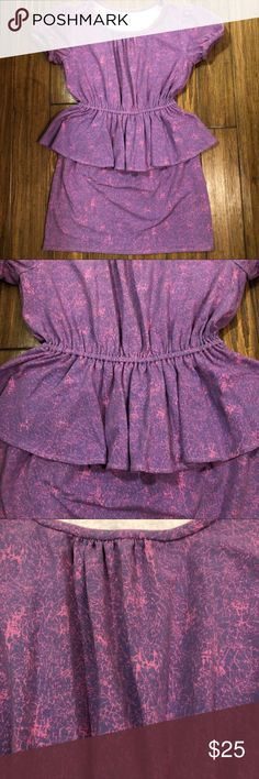 80's Neon Purple/Pink Dress Very fun dress! Excellent condition! Not sure if it's actually vintage or just vintage inspired! No size tag but I'd consider a medium. Material has some stretch to it. Please refer to pics for measurements. Dresses