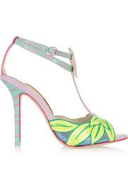 Sophia WebsterFlamingo patent-leather sandals