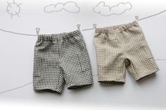 Baby boy linen short pants. Love!