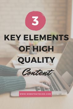 From the headlines of your content, to the structure of your sentences and the words you choose, each element is a component that determines how well your content will perform. Here, we'll be going over the 3 key elements of high quality #content: #language, #structure and #headlines.