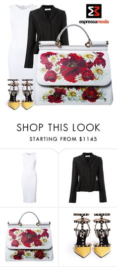 """SHOP - ESPRESSAMODA"" by espressamoda ❤ liked on Polyvore featuring Victoria Beckham, Dolce&Gabbana and Valentino"