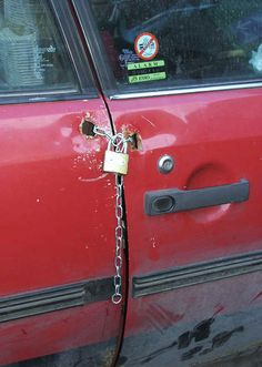 This is NOT the best way to lock your car...