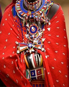 Africa |  Detail of Maasai adornment, Amboseli National Park, Kenya | ©Jim Zuckerman.