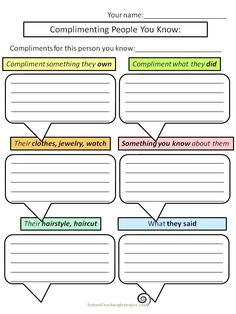 Great worksheets for social skills teaching!
