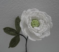 White Peony. Sign up to receive this free pattern. flawlesscrochetflowers.com