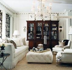 Ralph Lauren Home Mayfield Feminine Elegant Black and white Glamorous Paris French Style