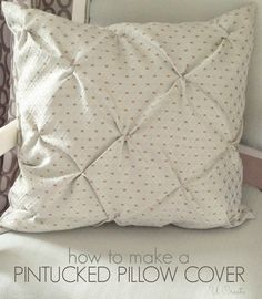Pin Tucked Throw Pillow Tutorial.