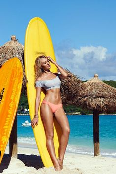 Candice is on board with our Cropped Top. / Victoria's Secret Swim 2014