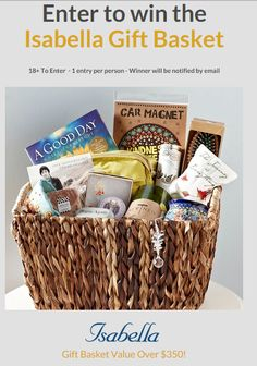 Enter to Win a $350 Isabella Gift Basket Ends 10/26 - On the Scene with Mrs Kathy King