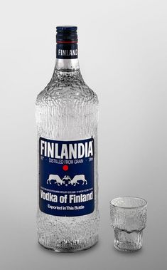 Bottle designed by Tapio Wirkkala/ Onko kaapissasi Tapio Wirkkalan astia-aarteita? Bottle Design, Glass Design, Finland Food, Finland Travel, Vodka, Strong Drinks, Good Old Times, Bar Drinks, Helsinki