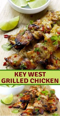 Appreciate the kinds of summer ANY season with this flavorful key west flame broiled chicken formula! The magnificent part about this formula is tha… Key West Grilled Chicken - Key West Grilled Chicken Turkey Recipes, Meat Recipes, Dinner Recipes, Cooking Recipes, Healthy Recipes, Healthy Grilled Chicken Recipes, Recipe Chicken, Grilled Dinner Ideas, Delicious Recipes