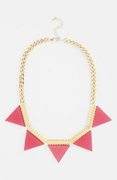 Cute pink statement necklace!