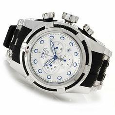 Invicta Reserve Mens Bolt Zeus Swiss Made Quartz Chronograph Polyurethane Strap Watch