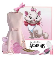 """""""Aristocats,Marie--Disney Inspired"""" by dgia ❤ liked on Polyvore featuring Disney, Chicwish, Miadora and FaceBase"""