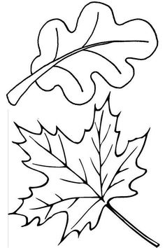 Fall coloring book page Autumn coloring page burried in leaves