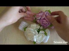 Весенние Цветы из ленты 2,5 см/Spring Flowers Ribbon 2.5 cm - YouTube