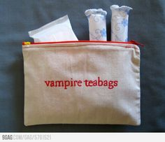Too funny!  I will have to get out my embroidery machine out and make some.  Visit www.darlaweston.shophandmade.com for some of my other unique and one of a kind cosmetic bags.