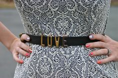 Totally in love with this belt from @Forever 21! #fashionblogger #love #nails