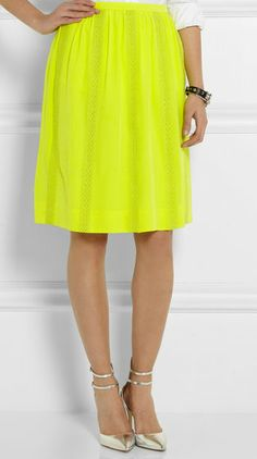 J. Crew Collection silk-crepe skirt